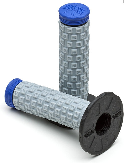 mp racing poignees pro taper pillow top grip noir gris bleu. Black Bedroom Furniture Sets. Home Design Ideas